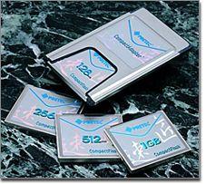 Pretec社のメタルコンパクトフラッシュ、銀一